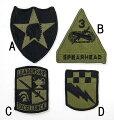US.ミリタリー、OD.部隊章(新品)BRANCH−GN