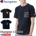 チャンピオン Champion リバースウィーブ 迷彩柄 ポケット付きTシャツ 新作 ネイビー│ブラック│Navy│Black 紺│黒 ポケT(c3-b369-370、c3-b369-104)