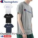 【2019SS新作!】チャンピオン Champion ロゴプリント Tシャツ 2019SS ベーシックスタイル C3-P302【4色】ホワイト グレー ブラック ネイビー White Black 他