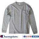 【2019FW新作】チャンピオン Champion T1011(ティーテンイレブン) ポケット付きロングスリーブTシャツ ロンT (C5-P401) グレー Grey【送料無料】