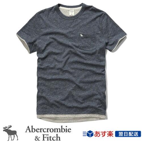 アバクロンビー&フィッチ 正規品 アバクロ Abercrombie&Fitch メンズ Tシャツ ポケT ポケット付T...