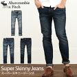アバクロンビー&フィッチ 正規品 アバクロ Abercrombie&Fitch メンズ ジーンズ デニム ジーパン:A&F Super Skinny Jeans 《3色》