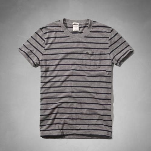 アバクロンビー&フィッチ 正規品 アバクロ Abercrombie&Fitch メンズ Tシャツ ボーダー柄/ストラ...