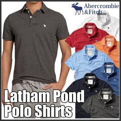 アバクロンビー&フィッチ 正規品 アバクロ Abercrombie&Fitch メンズ ポロシャツ 無地ポロシャツ 鹿の子:Latham Pond Polo《7色》