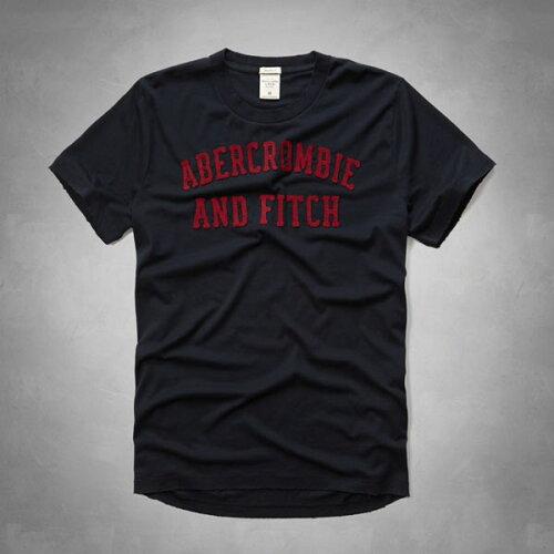 アバクロンビー&フィッチ 正規品 アバクロ Abercrombie&Fitch メンズ Tシャツ:Applique Logo Gr...