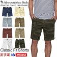 【お買得!バーゲン中!】【新作】【あす楽対応!】アバクロンビー&フィッチ 正規品 アバクロ Abercrombie&Fitch メンズ ハーフパンツ 短パン ショーツ:Classic Fit Shorts《8色》カーキ|レッド|ブルー|ホワイト|ネイビー|迷彩|カモ|イエロー