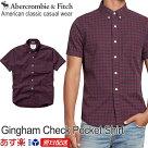 アバクロチェック柄シャツボタンダウンシャツ