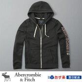 アバクロンビー&フィッチ 正規品 アバクロ Abercrombie&Fitch メンズ パーカー:Logo Full-Zip Hoodie - Dark Grey│グレー