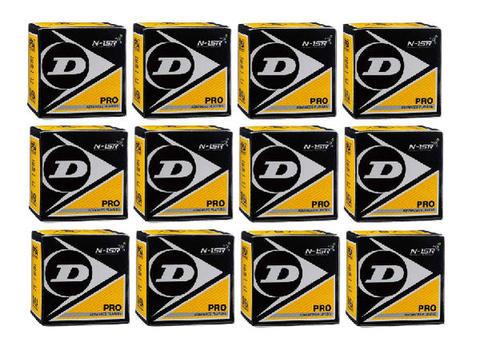 DUNLOP(ダンロップ)PROXXPCSスカッシュボール1箱1球入り×12箱セットブラック×ダブ...