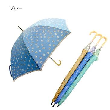 【よりどり3個で送料無料】レディース・ウィメンズ雨晴兼用UV加工サンフラワー柄ジャンプ傘 60cm273411236(16☆)(雨傘)(婦人傘)