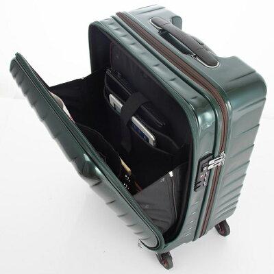 HIDEO WAKAMATSUのフロントオープンスーツケース大容量機内持ち込み