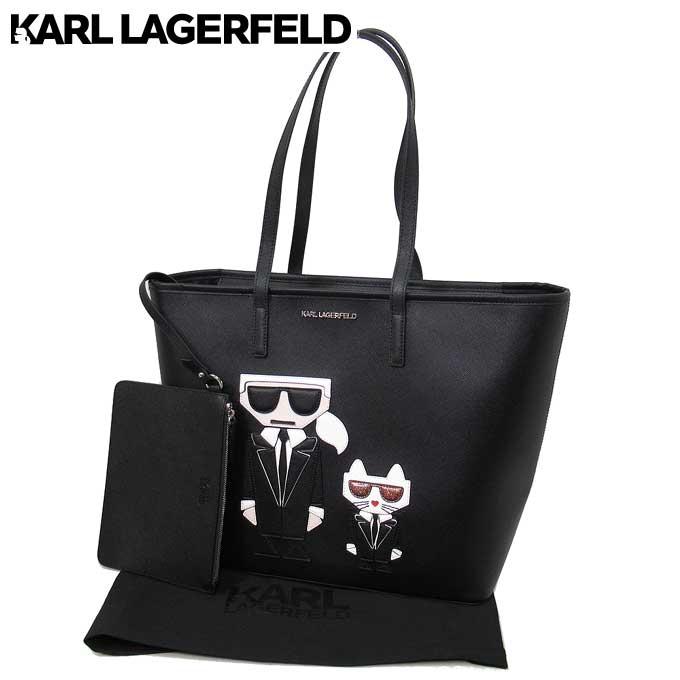 レディースバッグ, トートバッグ  Karl Lagerfeld 94KW3002 KKOCKTAIL KARLCHOOUPETTE SH A999(BLACK):