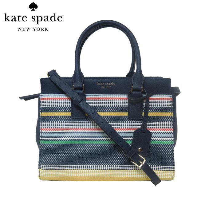 レディースバッグ, ハンドバッグ 10OFF kate spade WKRU5931-974 medium satchel cmrn bwlk strp 2WAY multi(974):