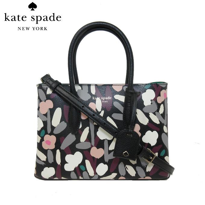 レディースバッグ, ハンドバッグ 10OFF kate spade WKRU6226-098 2WAY small top zip satchel eva fete floral blackmulti(098)
