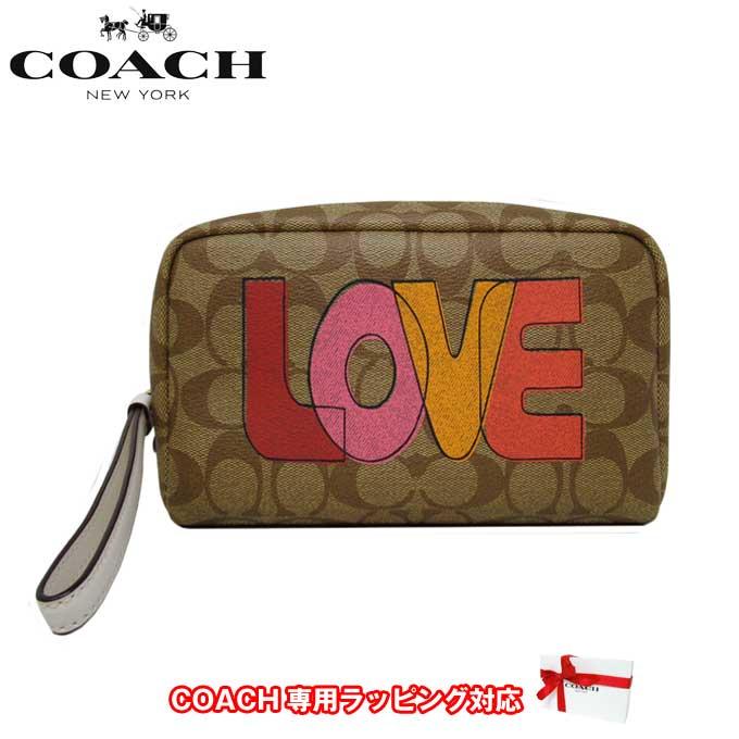 レディースバッグ, 化粧ポーチ  COACH C2891 PVC LOVE 20 IMLOT()