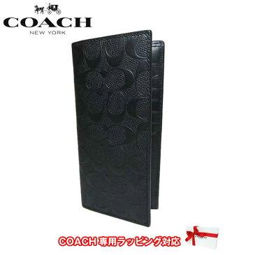 ●2タイプ有●コーチ アウトレット COACH 財布 F75365 レザー シグネチャー ブレスト ポケット ウォレット 長財布 BLK(ブラック)【RCP】【楽天カード分割】【メンズ】