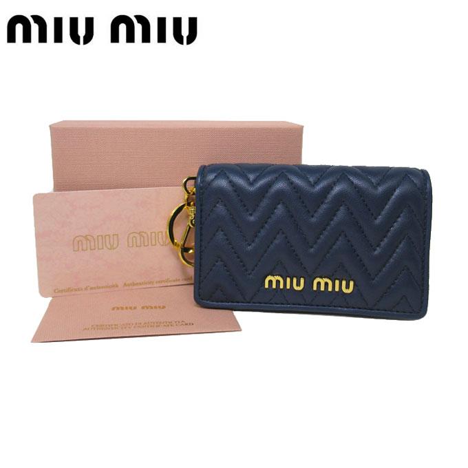 財布・ケース, クレジットカードケース  MIU MIU 5MC407 NAPPA IMPUNTURE BLUETTE