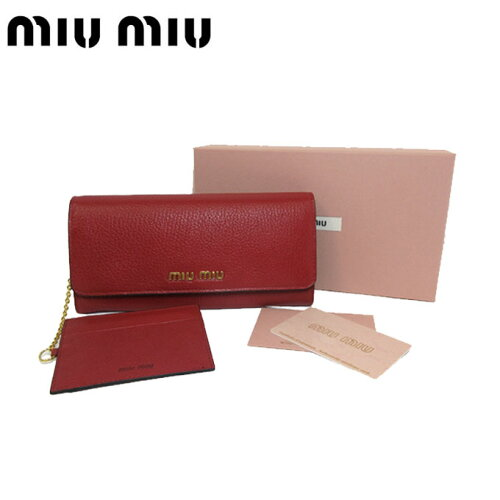 newest collection 62c27 8aebb ミュウミュウアウトレットmiumiu 財布5MH109 マドラスレザーロゴ ...