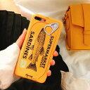 【メール便送料無料】人気iphoneケース食テロフード魚アンチョビ面白いおもしろいカバーおしゃれかわいい韓国ウケ狙いシリコンソフト飯テロ缶詰食べ物食品サンプル食品【iphone8/7、iphone8plus/7plus、iphoneXS/X、iphoneXSmax、iphoneXR、iphone6/6s、iphone6plus/6splus】