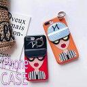 【メール便 送料無料】iphoneケース カードケース カードホルダー おしゃれ サングラス 女の子……