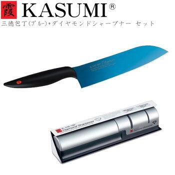 霞KASUMIチタンコーティング三徳包丁18cm
