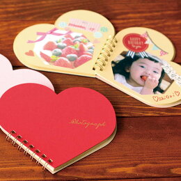 【台紙15枚】スクラップブックハートS(カラー:レッドホワイトピンク)【楽ギフ_包装】