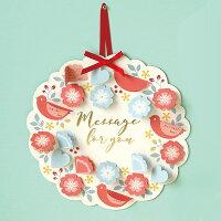 【楽天ランキング1位入賞】【壁にかければ、フラワーリースのように飾れる】メッセージボード リース(カラー:レッド ブルー)《おしゃれ/大人/かわいい/可愛い》【思い出特集】