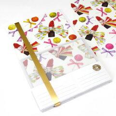 透明の封筒から透ける鮮やかな世界starlab MIA/レターセット 11ss
