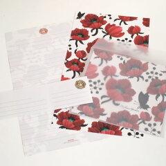 透明の封筒から透ける鮮やかな世界starlab MIA/レターセット(09)