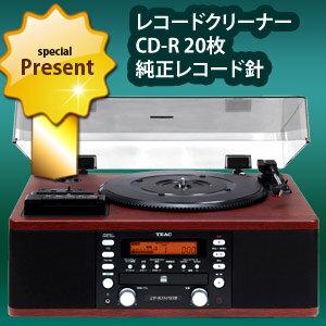 TEAC ターンテーブル/カセット付CDレコーダー LP-R550USB-WA ウォルナット(…