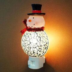 モザイクラウンドスノーマンのライト☆クリスマスにムードを盛り上げてくれる一品です。【GTS】...