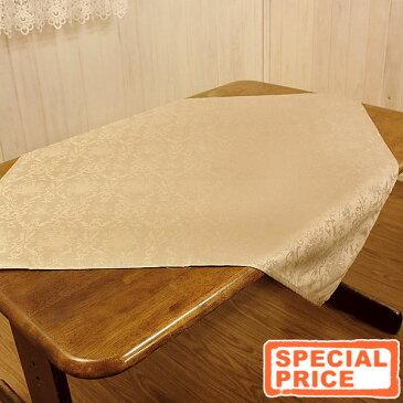 ジャカード織 撥水加工テーブルクロス 約90x90cm(正方形) シンプルでエレガントな空間を作るインテリアdamask elegance 【20枚以上お買い上げで10%OFF】【ゆうパケット選択可】