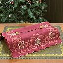 ティッシュボックスカバー 約12x26x11cm【ゆうパケット選択可】 クリスマス ティシュカバー ボックスティッシュ レッド グリーン