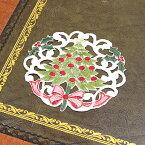 クリスマスコースター 約12cm 円形 【ゆうパケット選択可】 クリスマスデザイン ツリー刺繍