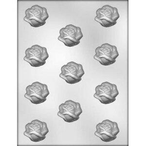 【メール便OK】手作りお菓子作りに♪チョコレート型 モールドエレガント ローズ 薔薇 11個[...