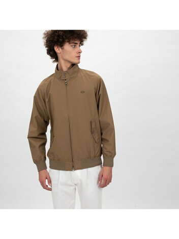 Lacoste Short Cotton Nylon Zip Jacket BH115EL: Beige