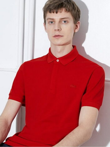 Paris Edition Regular Fit Stretch Pique Polo PH5522L: Red