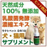 犬 猫 ネコ ねこ ペット用 サプリメント 乳酸菌 酪酸 発酵食品 天然成分100% 無添加 アミノ酸 ミネラル クレンズフード 濃縮エキス 日本製 国産 ラクトペットDR10 Made in Japan
