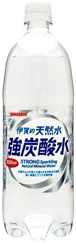 サンガリア伊賀の天然水強炭酸水P1000ml×12