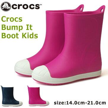 【30%OFF】クロックス バンプ イット ブーツ キッズ 203515 キッズレインブーツ crocs bump it boot kids 6MI 43W 防水 長靴 男の子 女の子 (1806)(E)