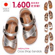 サンダル キッズ 女の子 子供 歩きやすい 大きなサイズも!おすすめ 人気「★クロス サンダル」日本製で靴ずれの心配がほとんどありません。柔らかソール! おしゃれ ホワイト シルバー ゴールド 高級 上質 15 16 17 18 19 20 21 22 23 24
