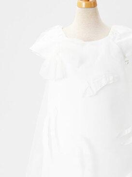 【スペシャル価格♪】子供ドレス 子供服 ドレス ワンピース フォーマル 女の子 キッズドレス ドレス 七五三 発表会 結婚式 パーティ ★Suzanne Ermann(スザンヌ エルマン) ハンドペイント チュール ワイヤー ラグランドレス ホワイト 4才〜12才