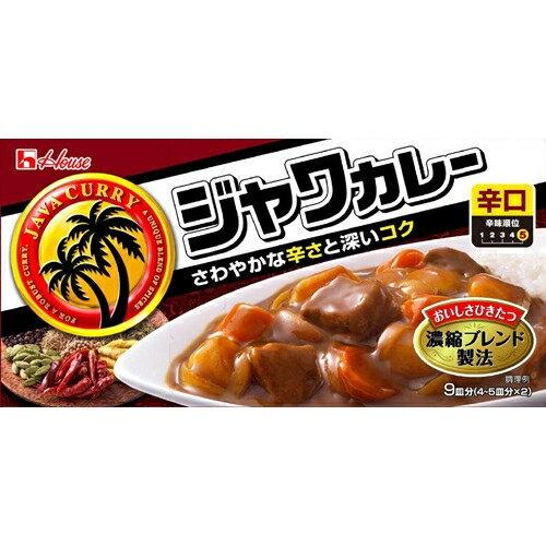 ハウス食品 ジャワカレー辛口 185g×10個