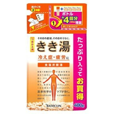 【医薬部外品】きき湯 食塩炭酸湯 詰替用 480g