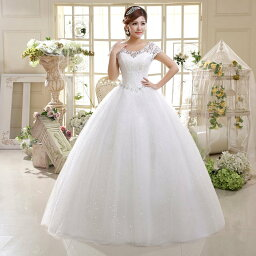ウエディングドレス ドレス 二次会 花嫁 ロングドレス Aラインドレス 披露宴 結婚式 イベント 編み上げ