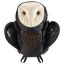 アニマルバッグ モーン Hug.FACTORY The owls メンフクロウバックパック BO-101 リュックサック MORN ジッパー付き ショルダーストラップ 撥水加工ナイロン 大人リュック アニマル柄 ナップザック レディースバッグ 入学式 入社式 卒業式 ギフト【gwtravel_d19】 1