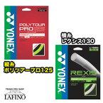 【張り上げ限定商品】ヨネックス(YONEX)ポリツアープロ125(PTGP125) × レクシス130(TGRX130)