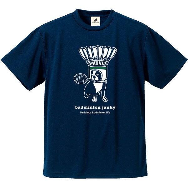 サッカージャンキー(soccer junky) DryTEE スペース シャトル犬 バドミント Tシャツ BDJ18011-21