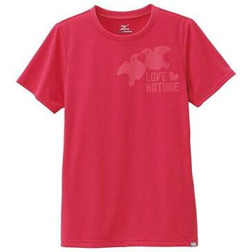 大特価!MIZUNO ミズノ ブリーズライトスパンプリントTシャツ(レディース) ラズベリーレッド(a2ja533761)