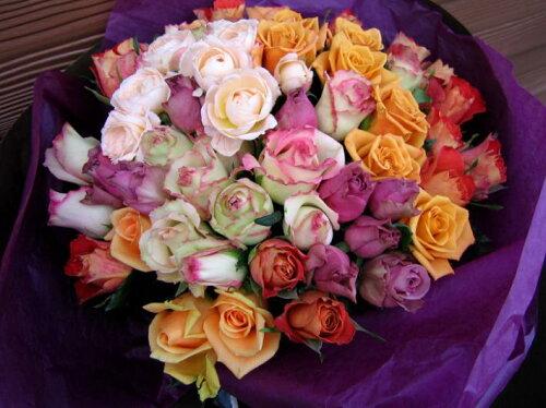 ローズサファイア花束■花 アレンジメント 花束 ローズ ばら 薔薇 記念日 結婚祝い 贈り物...